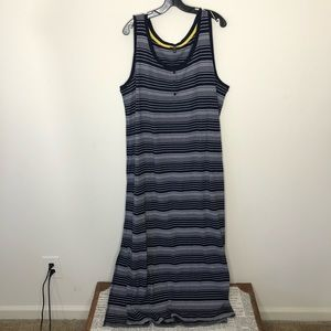 NWOT Talbots casual striped maxi dress 2X